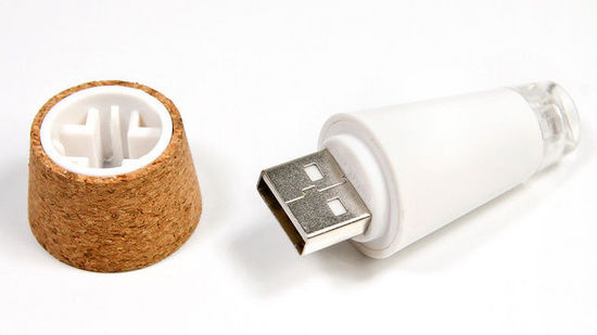 A Rechargeable LED Cork That Turns Empty Bottles Into Lamps